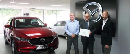 "Bel Royal Motors have recently been presented with a ""Mazda Aftersales Customer Excellence 2017"" Award."
