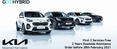 Get total peace of mind with your First 2 Services Free and 2 Years RAC when you purchase a new Kia Hybrid before the 28th February 2021.